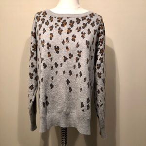 GAP Merino Wool Leppard Sweater Size XL